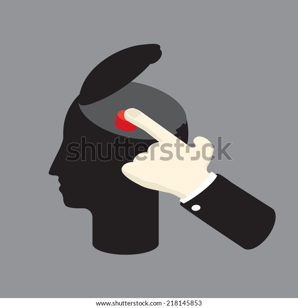control the man by pushing sensitive button