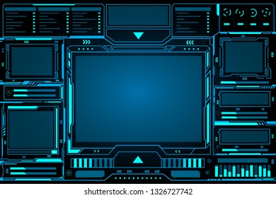 Control panel abstract Technology futuristic Interface hud on black background vector design.