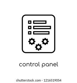 Control panel icon. Trendy modern flat linear vector Control panel icon on white background from thin line smart home collection, editable outline stroke vector illustration