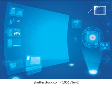 control room abstract background big screen hi technology