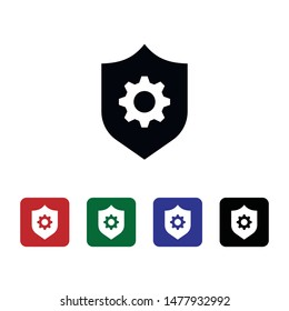 Control, security, setting, shield, icon. Element of security for mobile concept and web apps illustration. Thin flat icon for website design and development, app. Vector icon