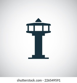 control tower icon on white background