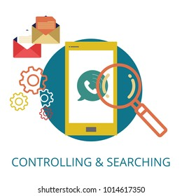Controlling & Searching concept
