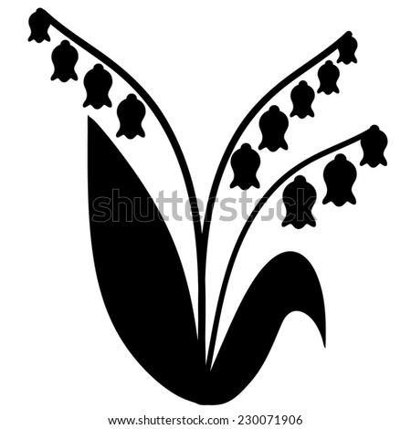 convallaria majalis lily valley lilyofthevalley template stock