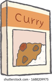 It is a convenient instant curry that can be eaten immediately just by heating.