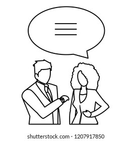 conversation and businesspeople design