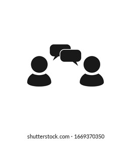 Conversation, communication user vector icon with speech bubbles