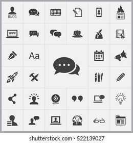 conversation icon. blog icons universal set for web and mobile