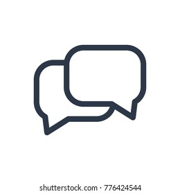 Conversation icon. Isolated chatting and conversation icon line style. Premium quality vector symbol drawing concept for your logo web mobile app UI design.
