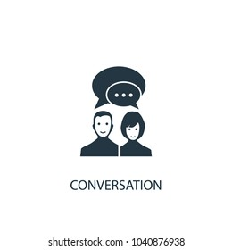 conversation icon. Simple element illustration. conversation concept symbol design from message collection. Can be used for web and mobile.
