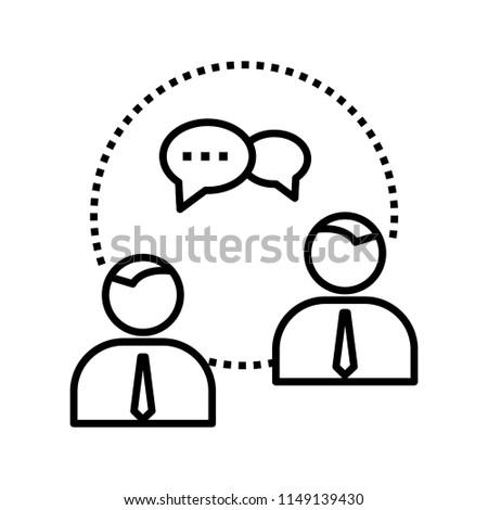 Conversation Line Icon Stock Vector Royalty Free 1149139430