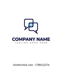 Conversation logo - business communication or chat symbol. Dialogue and discussion, teamwork and cooperation vector icon.