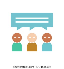 conversation persons icon. flat illustration of conversation persons - vector icon. conversation persons sign symbol