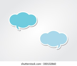 Conversation Speech Bubble Clouds
