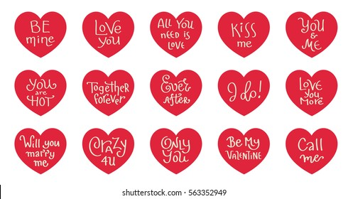 Conversational Message Heart Icon Collection