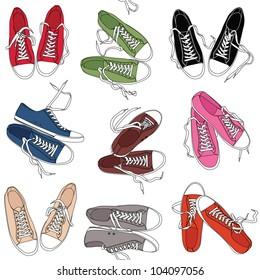 Converse shoes pattern