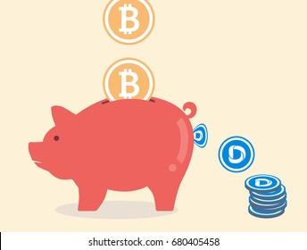Convert from Bitcoin to Dascoin via piggy bank