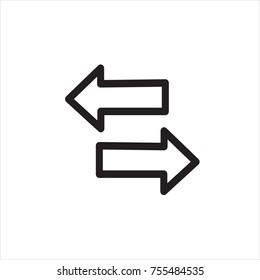 Convert icon, arrow, return, Vector Illustration.