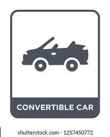 convertible car icon vector on white background, convertible car trendy filled icons from Mechanicons collection, convertible car simple element illustration