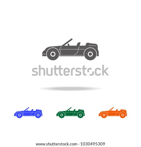 Convertible Sports Car Icon Types Cars Stock Vector Royalty Free