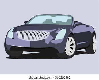 Convertible vector blue