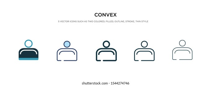 convex icon in different style vector illustration. two colored and black convex vector icons designed in filled, outline, line and stroke style can be used for web, mobile, ui