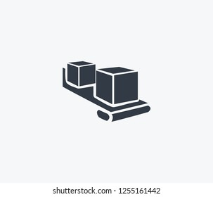 Conveyor icon isolated on clean background. Conveyor icon concept drawing icon in modern style. Vector illustration for your web mobile logo app UI design.