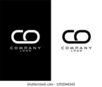 co/oc modern logo design with white and black color that can be used for business company.