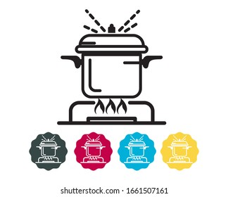 Cook Food Thoroughly - Icon for Disease Prevention as EPS 10 File