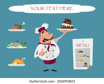 Cook with menu
