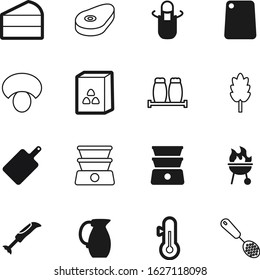 cook vector icon set such as: protein, season, control, building, frame, glass, plate, high, wooden, thermometer, morning, apron, seasoning, medical, mixer, drink, clothing, business, pottery