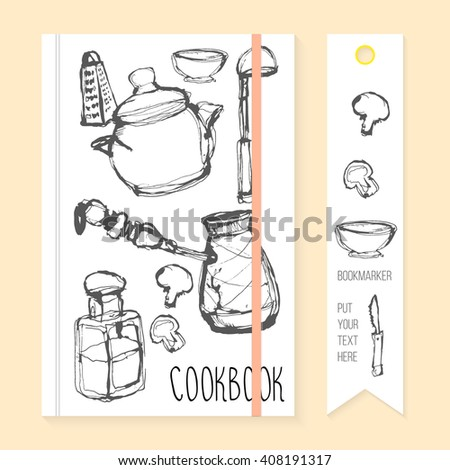 cookbook bookmark template stock vector royalty free 408191317