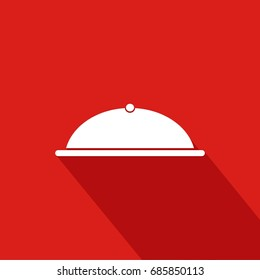 Cooker Flat Icon  With Red Background, Vector, Illustration
