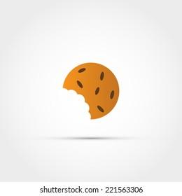 Cookie bite icon
