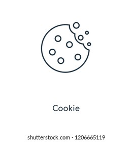 Cookie concept line icon. Linear Cookie concept outline symbol design. This simple element illustration can be used for web and mobile UI/UX.