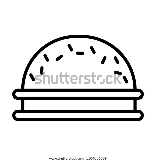 Cookie with cream, vector