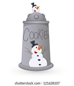 Cookie Jar - Christmas Vector Illustration