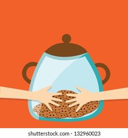 cookie jar with hug