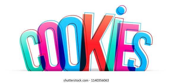 Cookies colorful word vector design