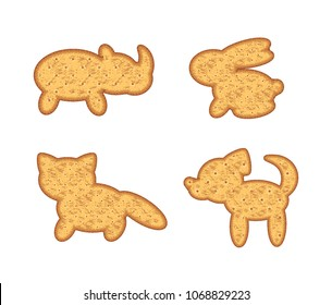 Animal Cookies Vector High Res Stock Images Shutterstock