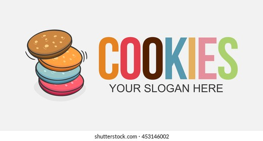 cookies logo images stock photos vectors shutterstock https www shutterstock com image vector cookies logo vector iilusration design element 453146002