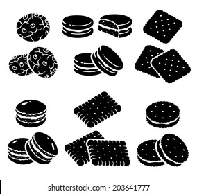 Cookies set. Vector