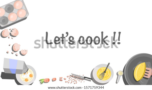 Cooking Banner Poster Background Cooking Class Stock Vector Royalty Free 1571759344