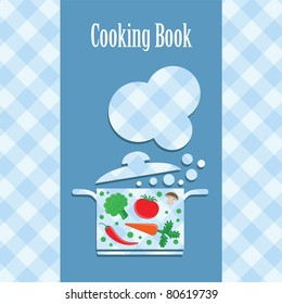 cooking book cover. vector illustration
