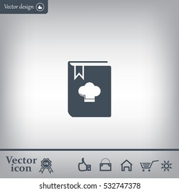 cooking book line icon