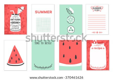cooking cards notes stickers labels tags stock vector royalty free