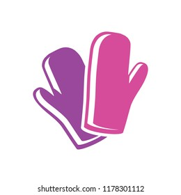 cooking gloves icon - vector gloves illustration, gloves symbol