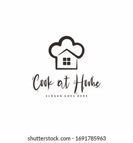 cooking at home logo design, because now all must stay at home.