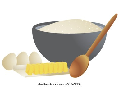Cooking ingredients 1 - vector version