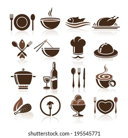 Cooking and kitchen icon set.